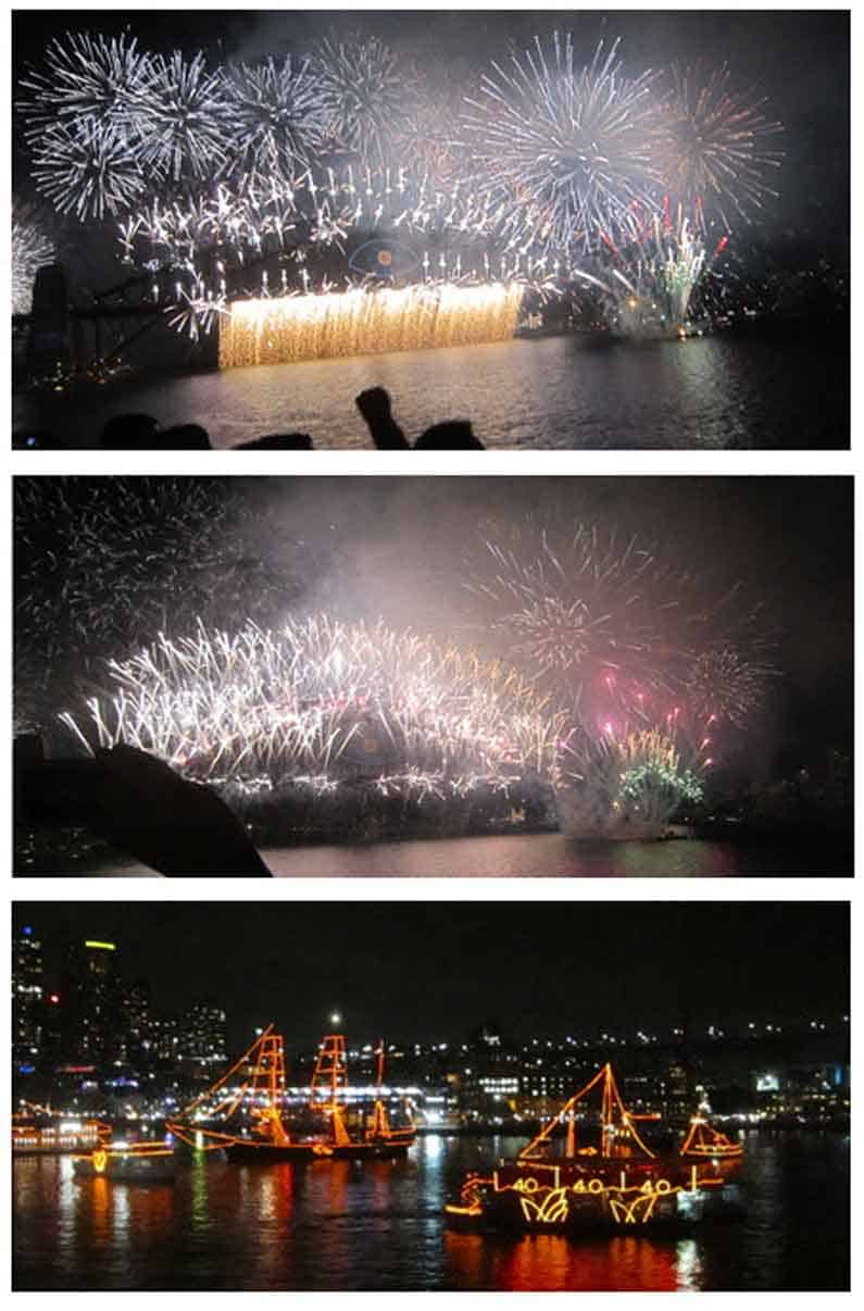 Henny Jensen enjoys the spectacular and magnificent fireworks on Sydney Harbour