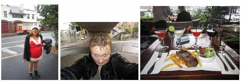 Christmas Day 2013 in Sydney, heavy rain all day long. Fortunately, I found one open restaurant in Darling Harbour - Henny Jensen