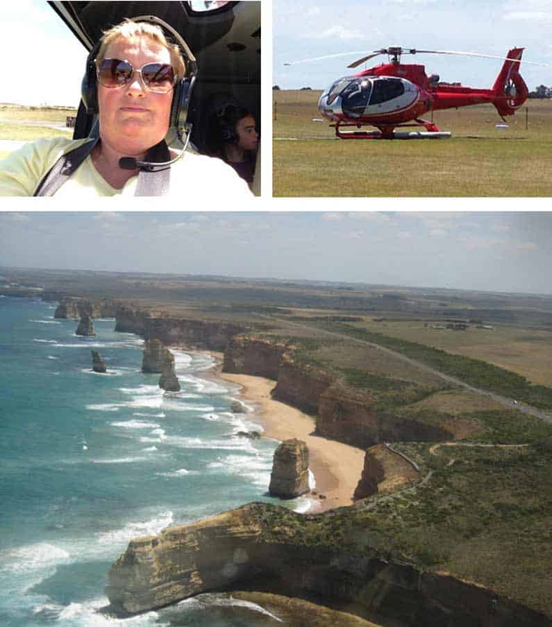 View of Twelve Apostles from above, my first helicopter ride ever - Henny Jensen