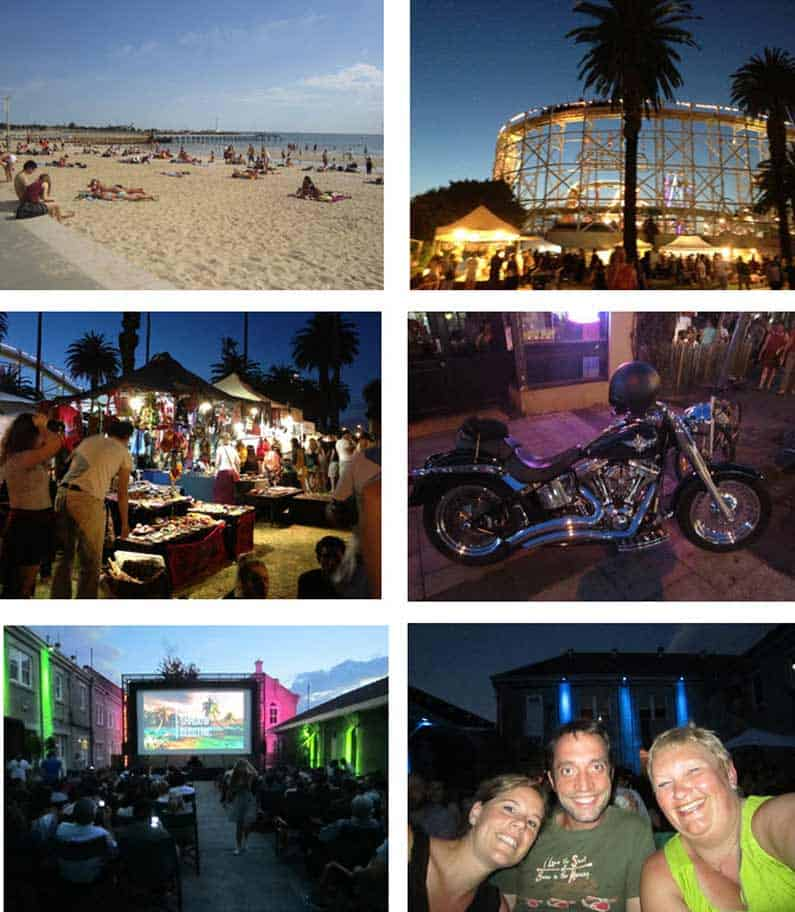 St. Kilda beach and amusement park, Abbotsford outdoor movie with Greg and Laura - Henny Jensen