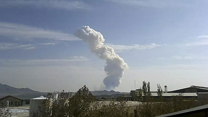 Column of smoke at Teheran missile base