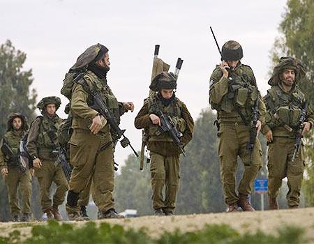 Soldados de Tzahal en la frontero con Gaza