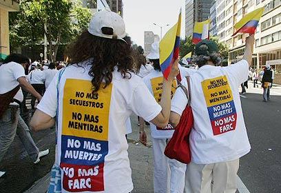 Anti-FARC protest (Bogota, Columbia)