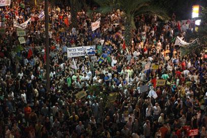 Tel Aviv rally (Photo: Moti Kimchi)