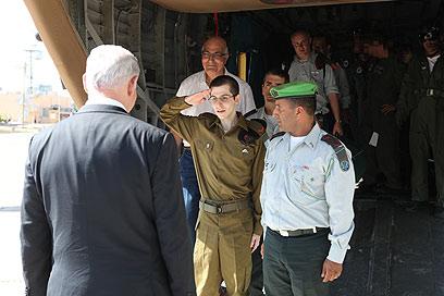 Gilad Shalit back in Israel