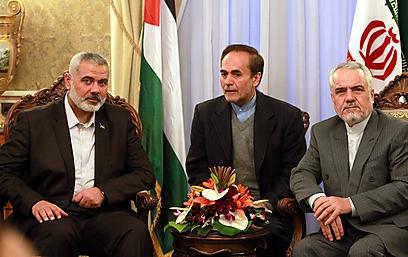 Haniyeh in Tehran (Photo: EPA)