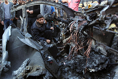 Jaabari's bombed car