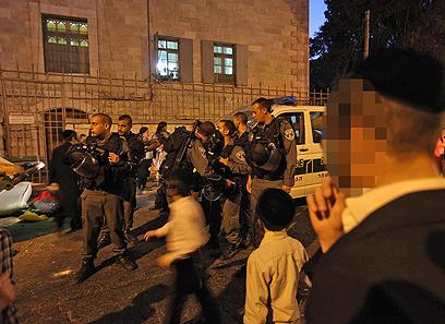 תקיפה אלימה. ירושלים, הערב (צילום: גיל יוחנן)