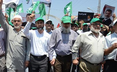 ראשי הפלג הצפוני של התנועה האיסלאמית מפגינים (מוחמד שינאווי)