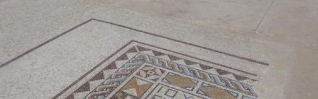 Мозаика на полу. Фото: Идо Эрез