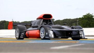 Carro de corrida usando hidrogênio