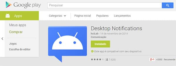 Aplicativo de notificacao android