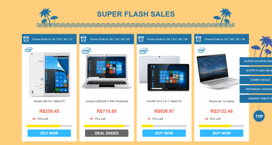 Tablet Powered Deals