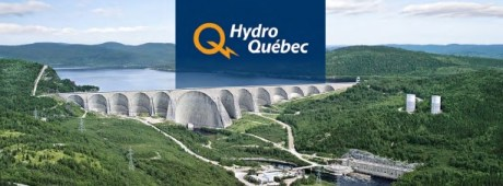 The photo of a dam belonging to the Hydro-Québec, (HQ)- the electric power utility for Quebec, which is now entirely owned by the provincial government.