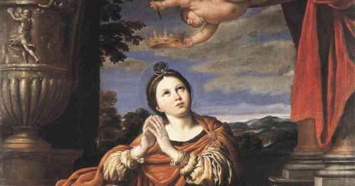 A painting depicting Saint Agnes