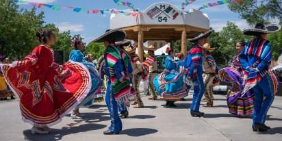 Folkorico Dancers dancing to traditional Mariachi Music