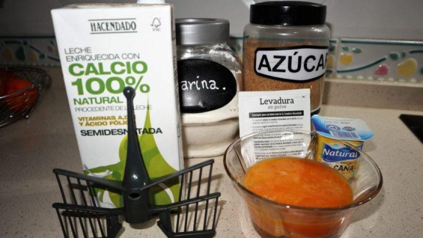 Ingredientes para hacer el bizcocho de yemas de huevo en Thermomix