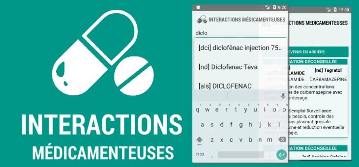 'Interactions médicamenteuses' une Appli gratuite qui détecte plus de 1460 interactions médicamenteuses