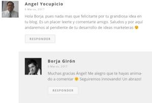 Yocupicio comenta a Borja Girón