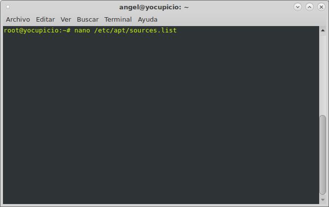 nano /etc/apt/sources.list
