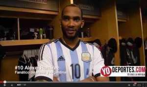 El cubano Alexeí Ramírez, es fiel fanático de Messi y Argentina.