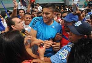 El futbolista nicaragüense de la selección de Costa Rica, Oscar Duarte. EFE