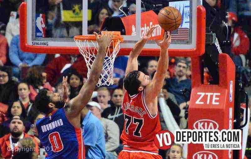 La Noche Latina NBA en CHicago Los Bulls contra los Pistones de Detroit.