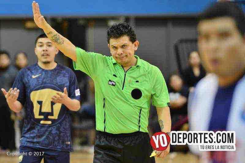 Arbitro Nahu Armenta-La Raza-Pumas-Liga MC de Chicago