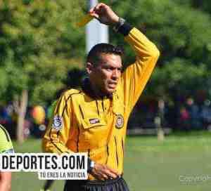 Árbitro Eswin Hernández convocado al duelo Real Celaya-Nacional de CLASA