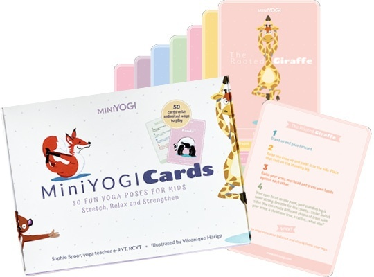 Miniyogi-Cards pour enfants - en vente dans la boutique en ligne YOGANEST