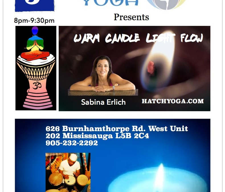 Warm Candle Light Flow Yoga @ Hatch Yoga Friday May