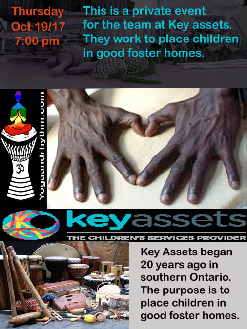 Keyassets celebration with African drumming