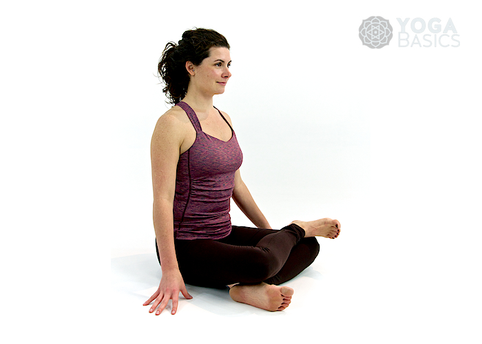 Fire log yoga pose / Agnistambhasana