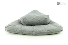 Slate Grey meditation cushion by ProjectFull
