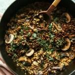 Mushroom Brown Rice Bake