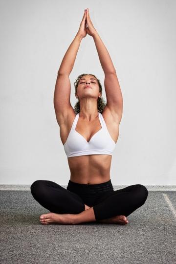 yoga on carpet floor
