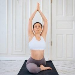 morning yoga pose pigeon