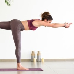 morning yoga pose warrior 3