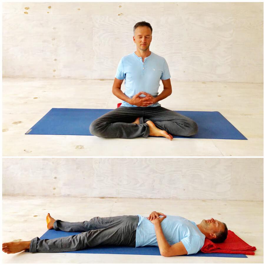 Yoga Stress - Yoga Exercises - Belly breathing