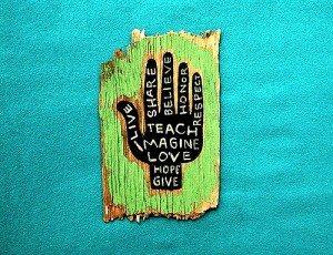 teaching hand