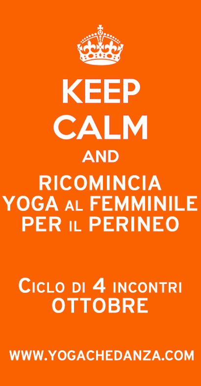KEEP CALM YOGA femminile PERINEO PAVIMENTO PELVICO