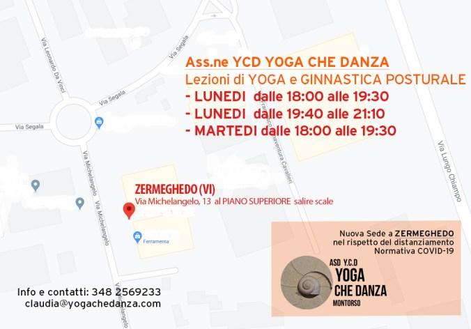 Yoga che Danza nuova sede a Zermeghedo nel rispetto delle normative sul distanziamento