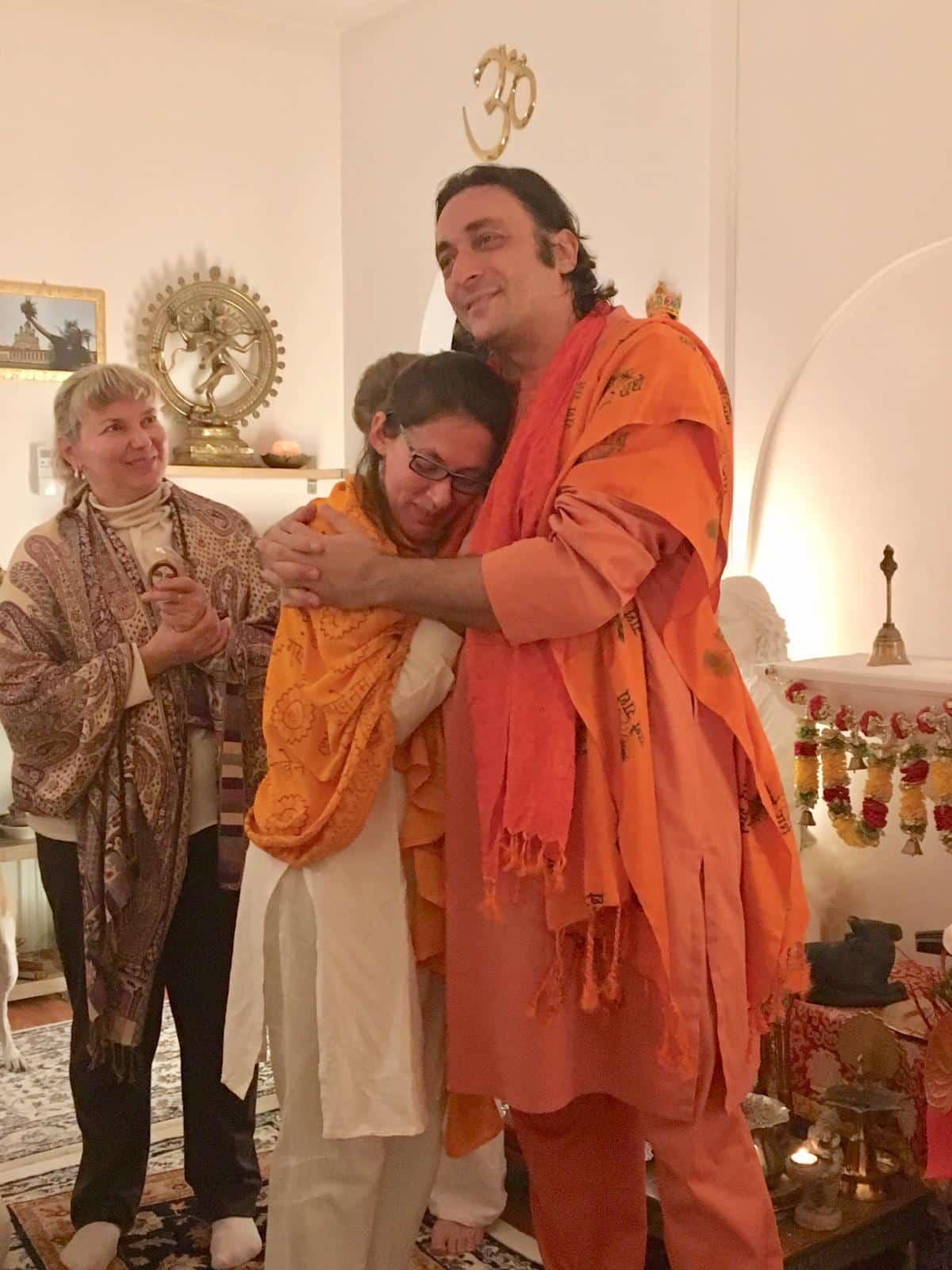 Davide R. Diesi (Swami) e allieva Caterina P. allo Shanti MahaMandir