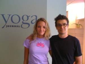 Chloe Hallock and Brian Castellani at Yoga Journal 2008