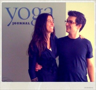 Brian Castellani, Creator of Yoganomics and Yoga Teacher Dina Amsterdam