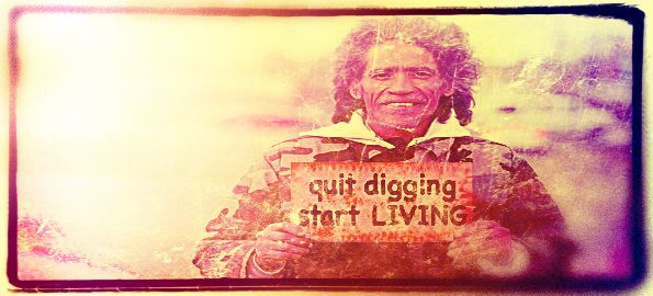 CNN Yoga: Quit Digging & Start Living
