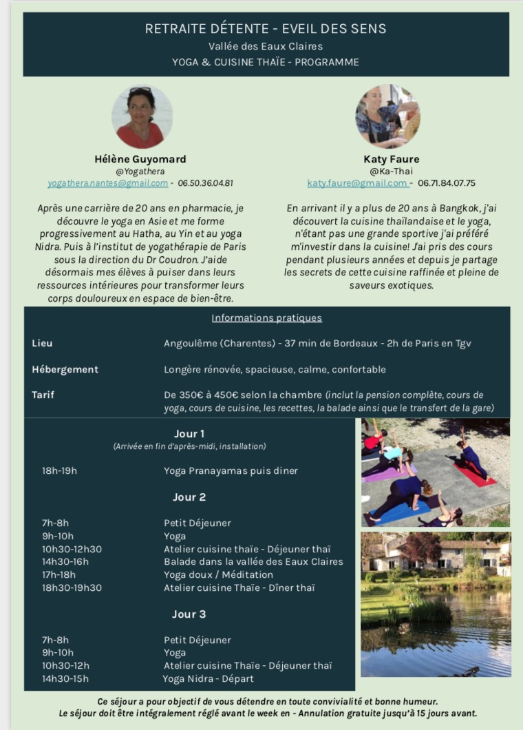Détail de la retraite Yoga-Thaïe