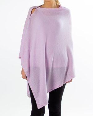 Rosa cashmere poncho