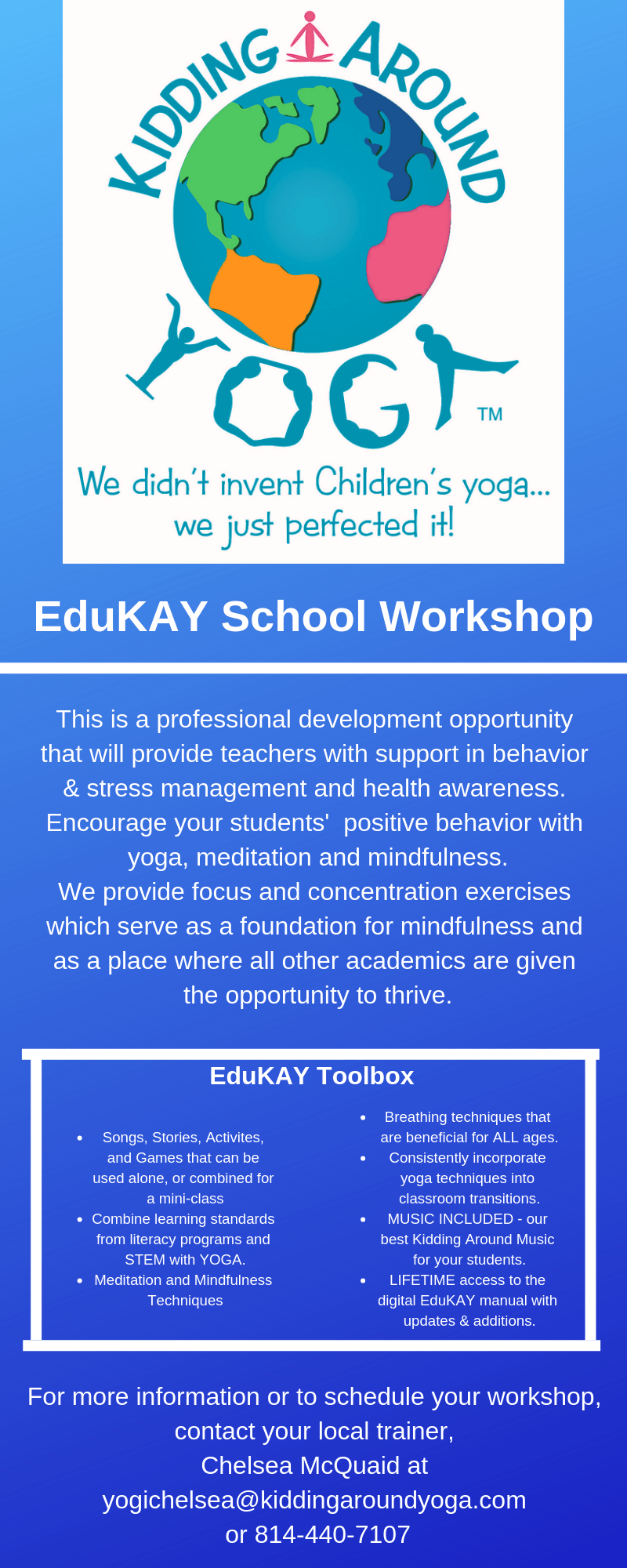 professional development training educators kids yoga