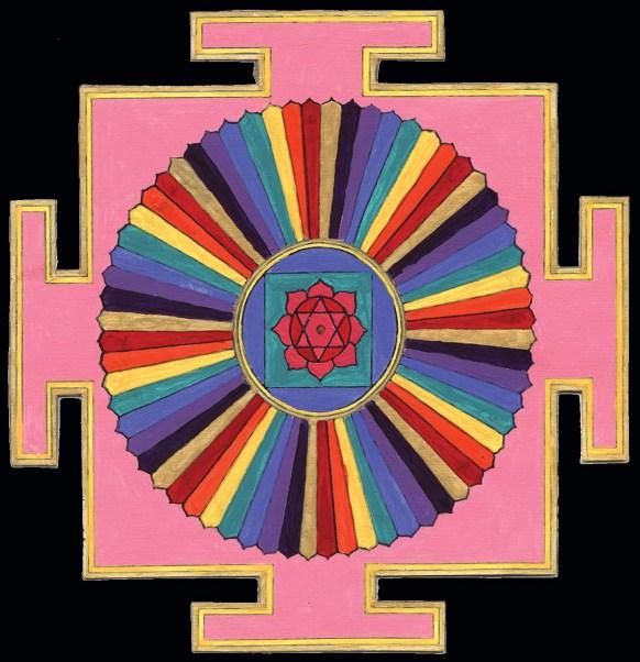 03 64 Yogini Yantra in Color